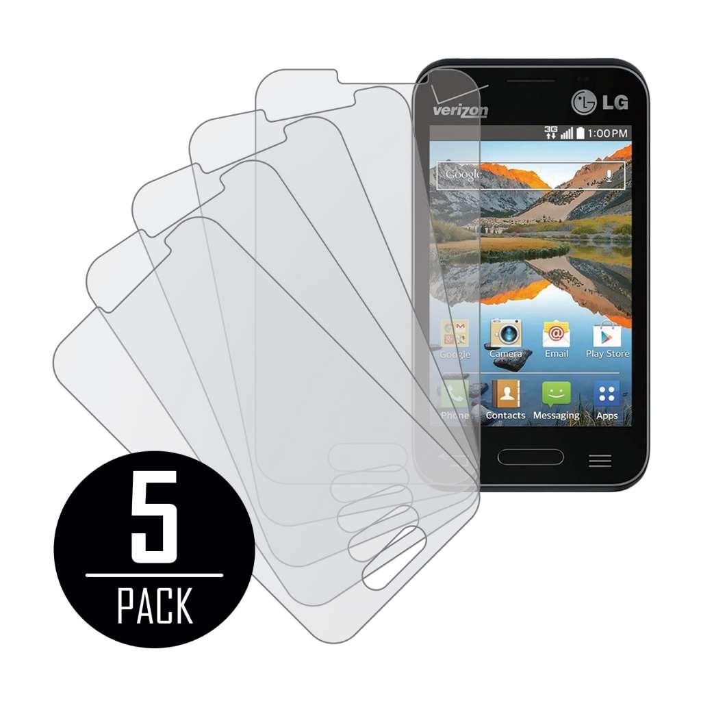 LG Optimus Zone 2 MPERO 5 Pack of Matte Screen Protectors