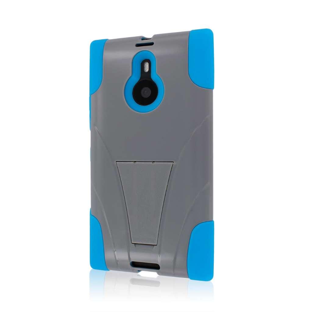 Nokia Lumia 1520 - Blue / Gray MPERO IMPACT X - Kickstand Case Cover
