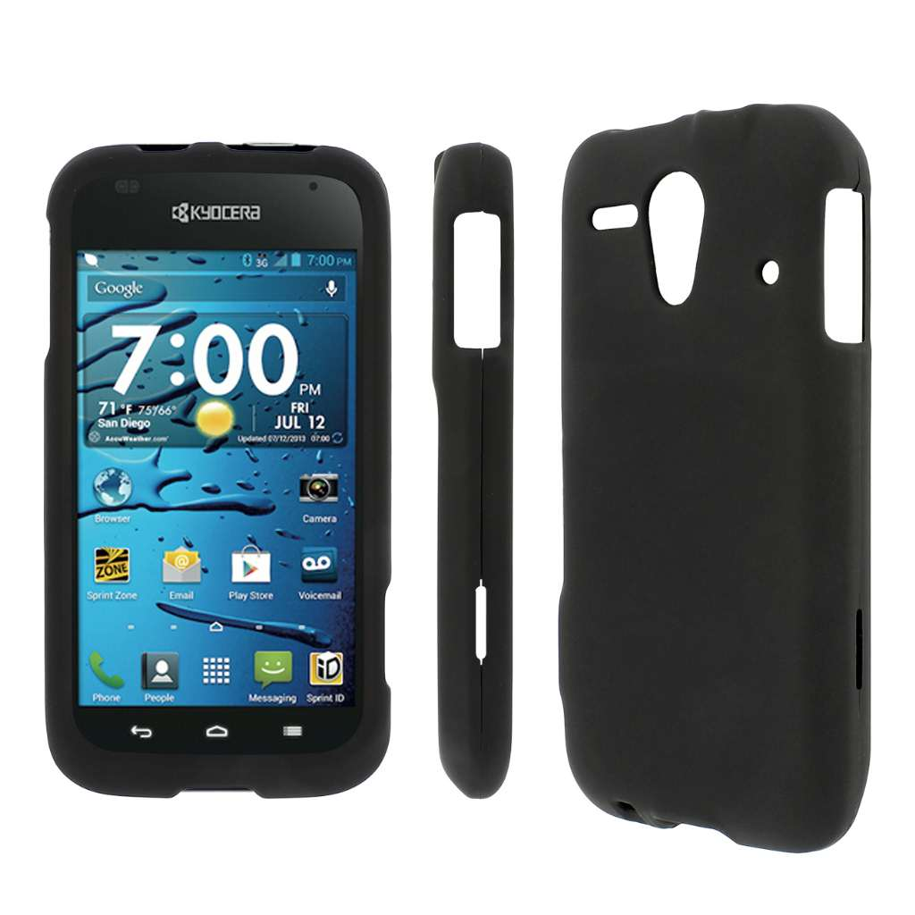 Kyocera Hydro Edge MPERO Full Protection Hard Rubberized Black Case Cover