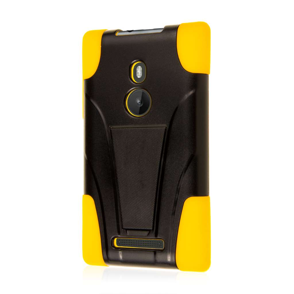 Nokia Lumia 925 - Yellow MPERO IMPACT X - Kickstand Case Cover