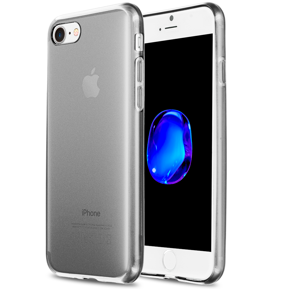 Apple iPhone 7 Smoke TPU Rubber Skin Case Cover