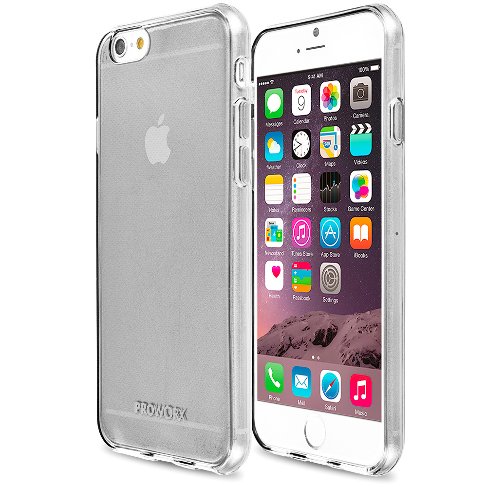 Apple iPhone 6 Plus 6S Plus (5.5) Clear ProWorx Ultra Slim Thin Scratch Resistant TPU Silicone Case Cover