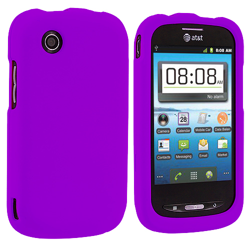 ZTE Avail Z990 Purple Hard Rubberized Case Cover