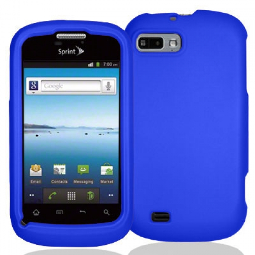 ZTE Fury N850 Blue Hard Rubberized Case Cover