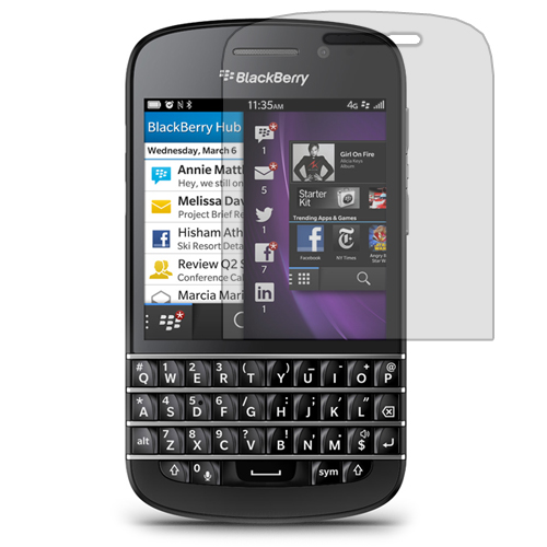 BlackBerry Q10 Clear LCD Screen Protector