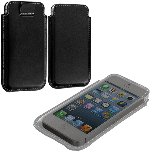 Apple iPhone 5/5S/SE Black Sleeve Pouch