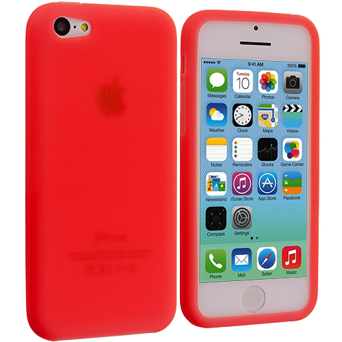 Apple iPhone 5C Red Silicone Soft Skin Case Cover