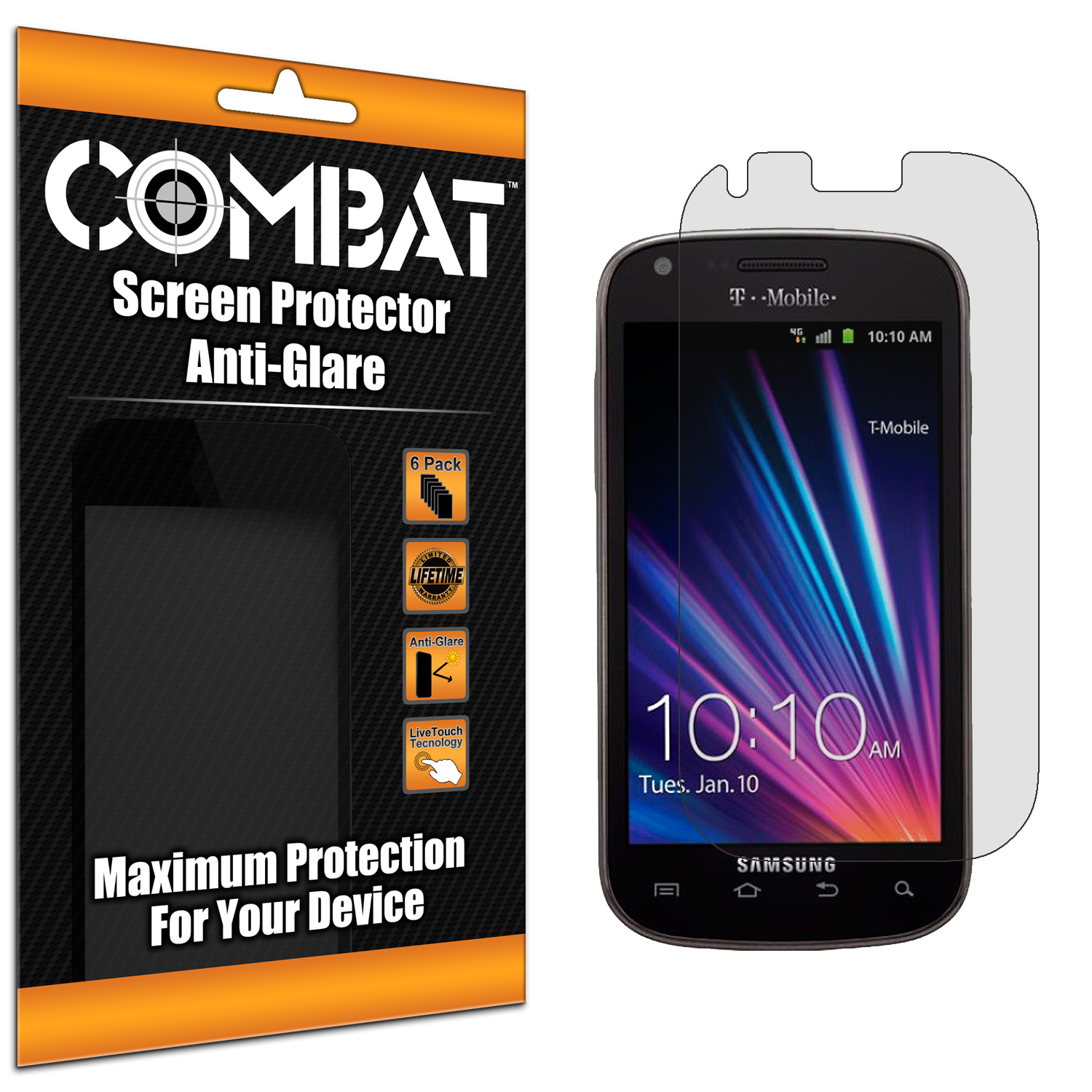 Samsung Galaxy S Blaze 4G T769 Combat 6 Pack Anti-Glare Matte Screen Protector