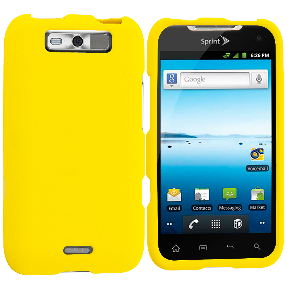 LG Viper / Connect Yellow Hard Rubberized Case Cover