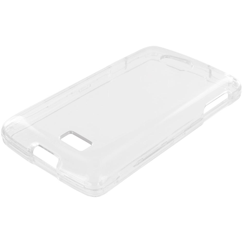 LG Transpyre Tribute F60 Clear Crystal Transparent Hard Case Cover