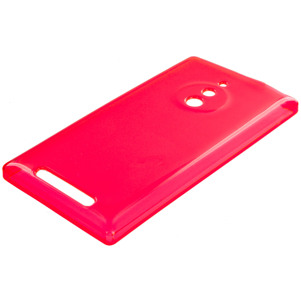 Nokia Lumia 830 Red TPU Rubber Skin Case Cover