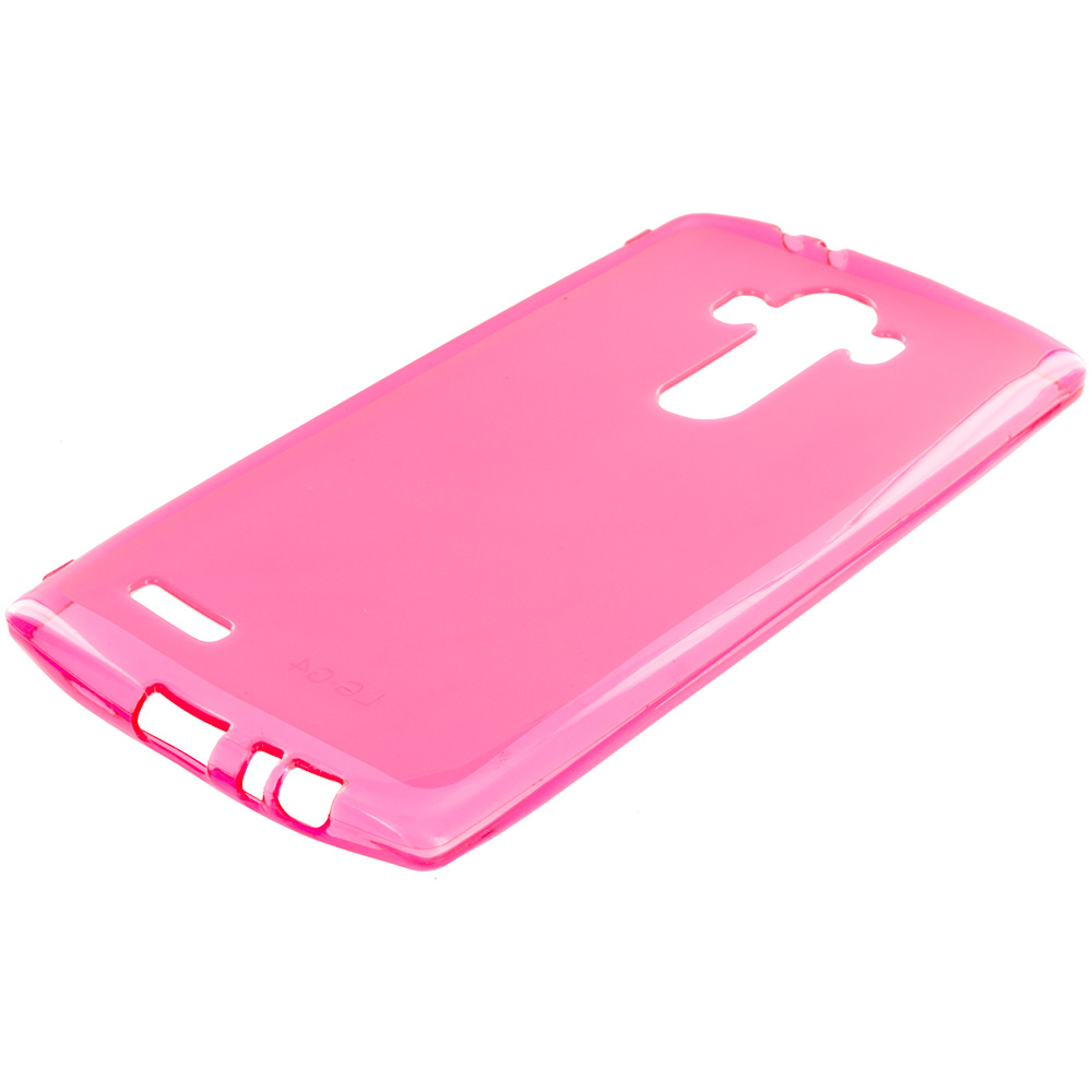 LG G4 Hot Pink TPU Rubber Skin Case Cover