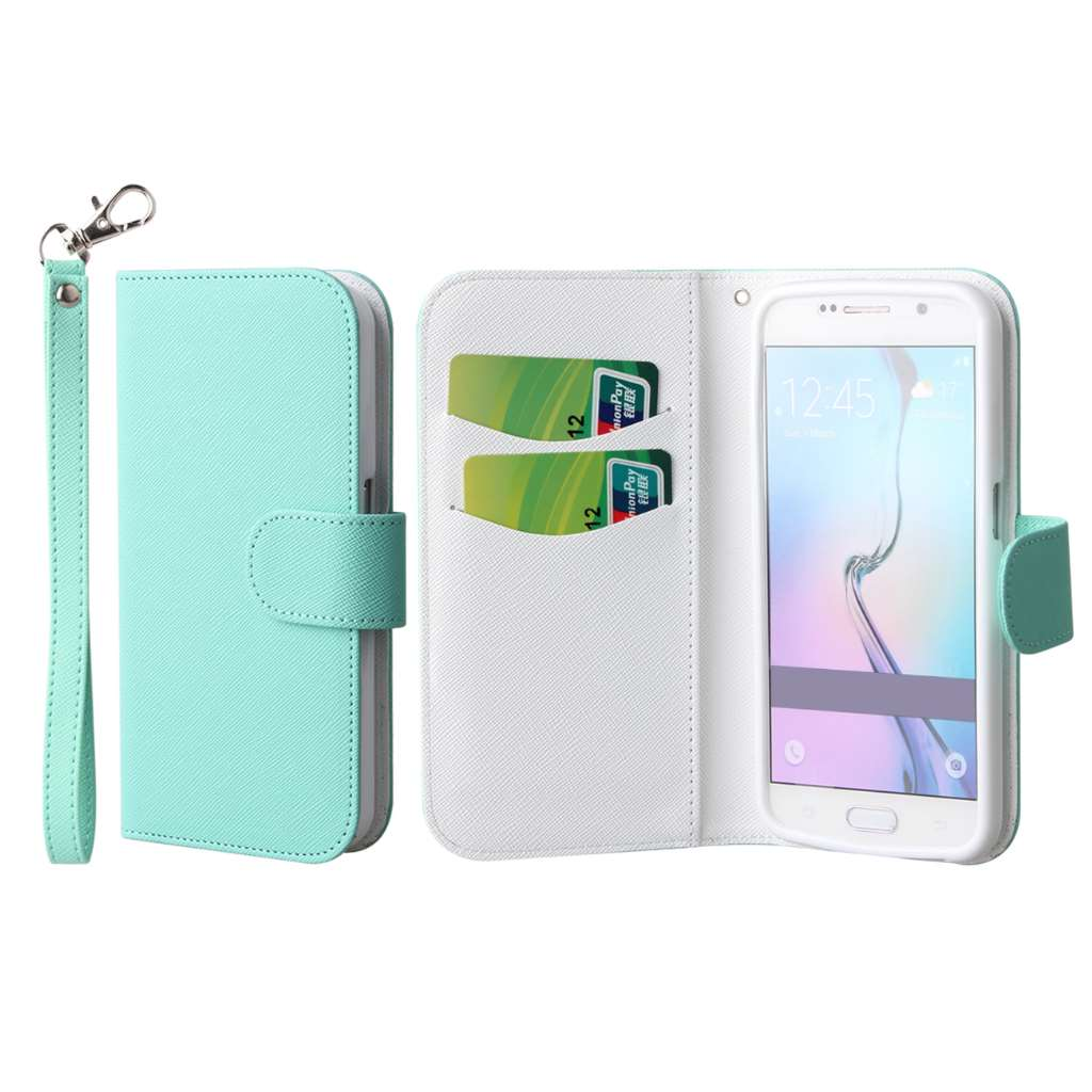 Samsung Galaxy S6 - Mint MPERO FLEX FLIP Wallet Case Cover