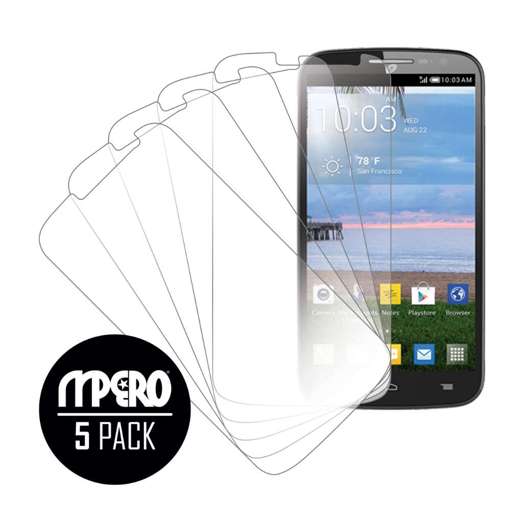 Alcatel OneTouch POP Mega LTE MPERO 5 Pack of Ultra Clear Screen Protectors
