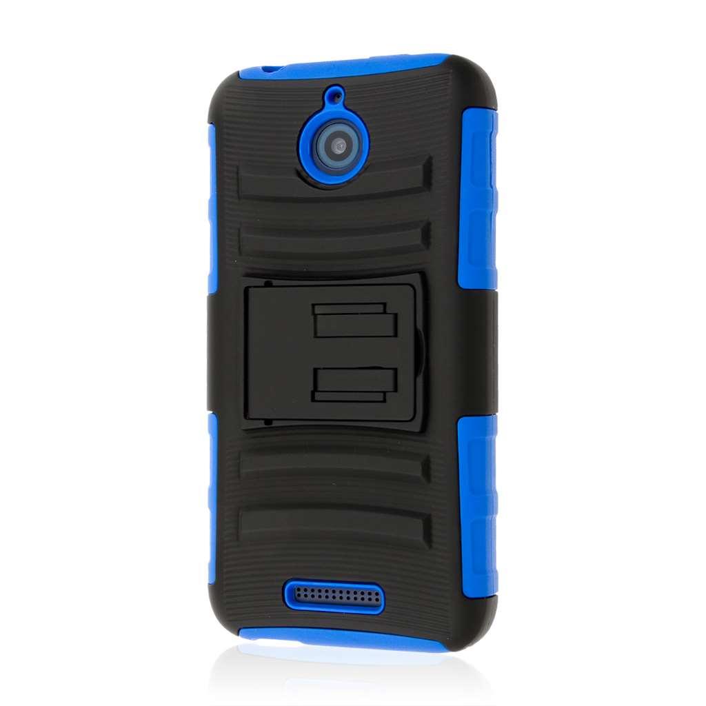 HTC Desire 510 512 - Blue MPERO IMPACT XT - Kickstand Case Cover
