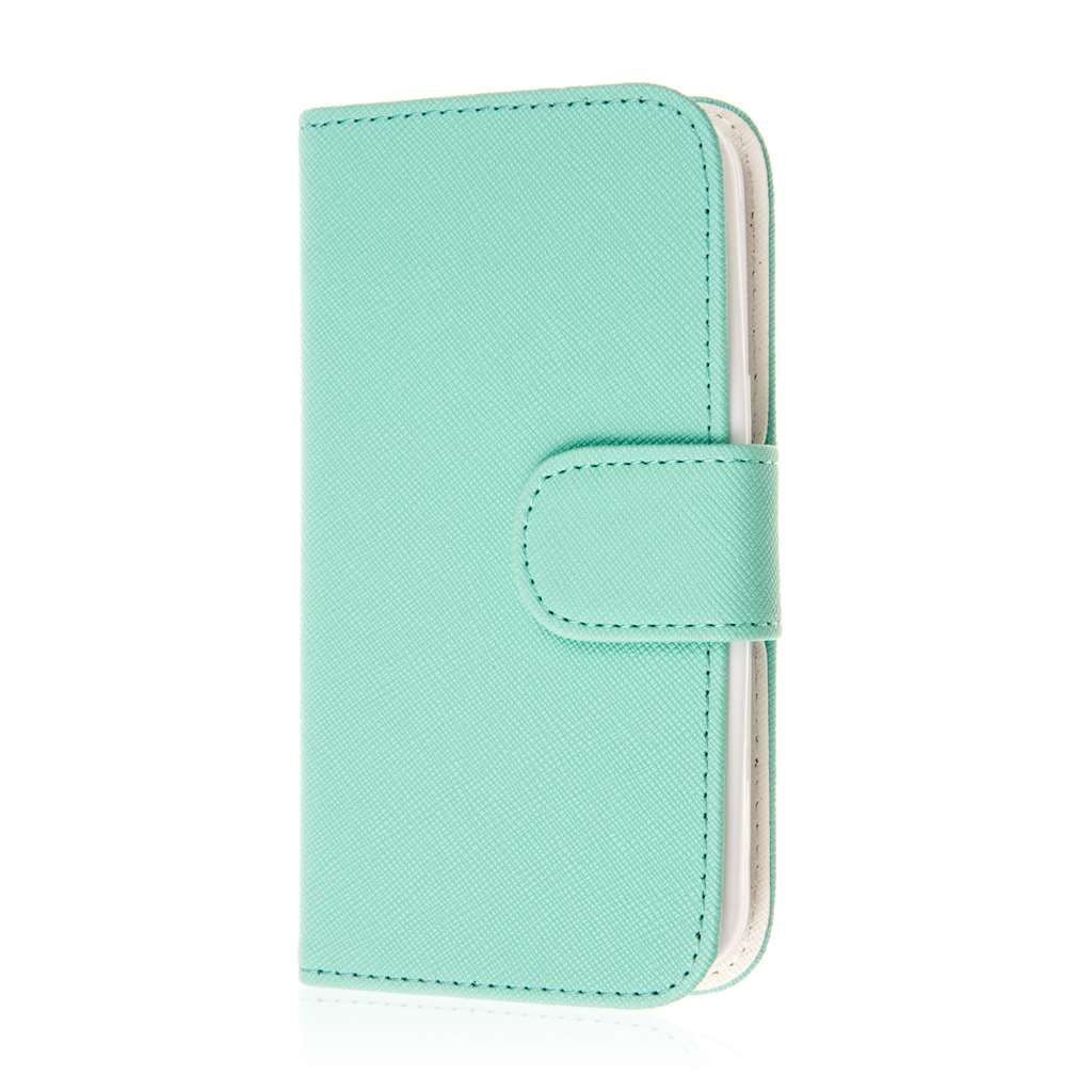 Samsung Galaxy Avant - Mint MPERO FLEX FLIP Wallet Case Cover