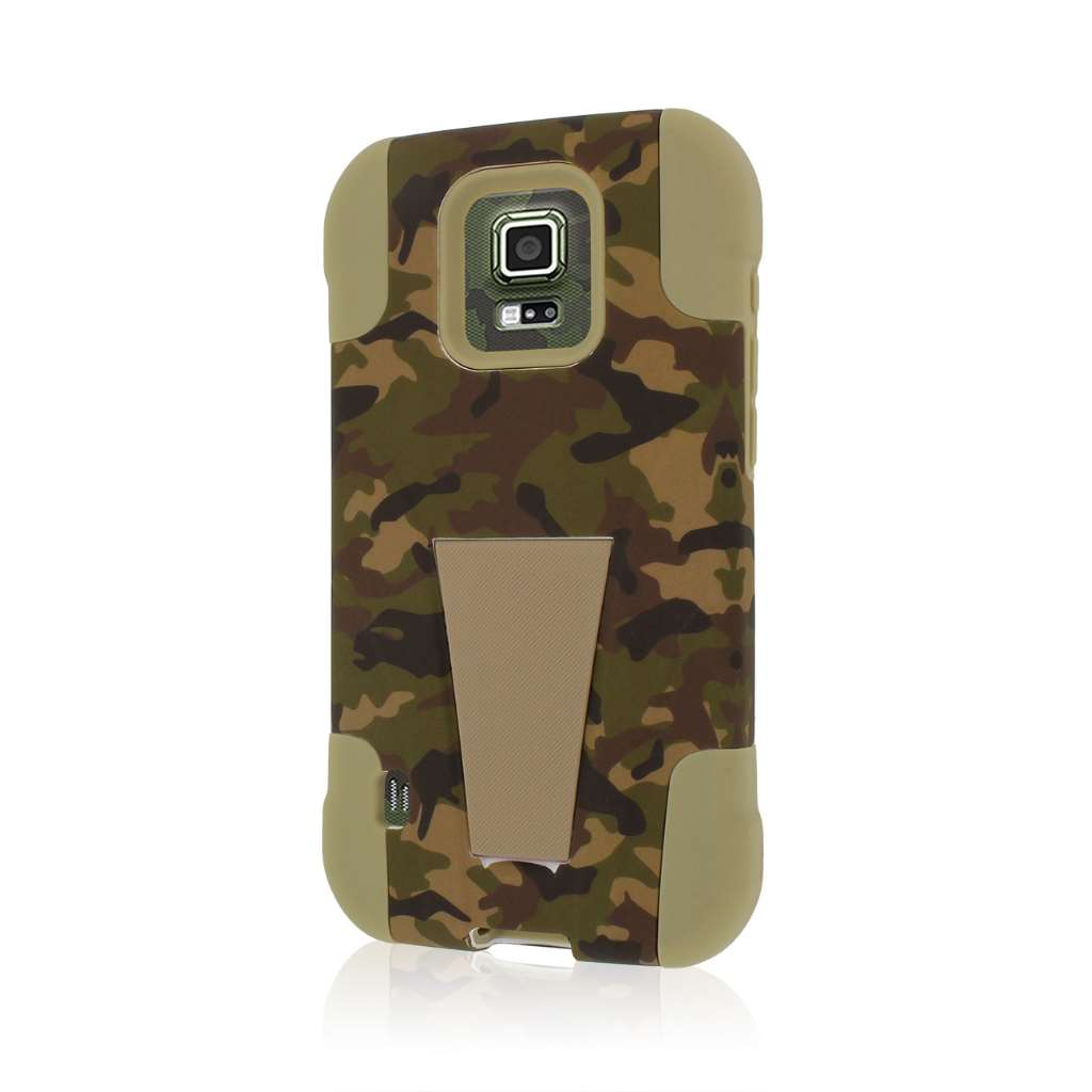 Samsung Galaxy S5 Active - Hunter Camo MPERO IMPACT X - Kickstand Case Cover