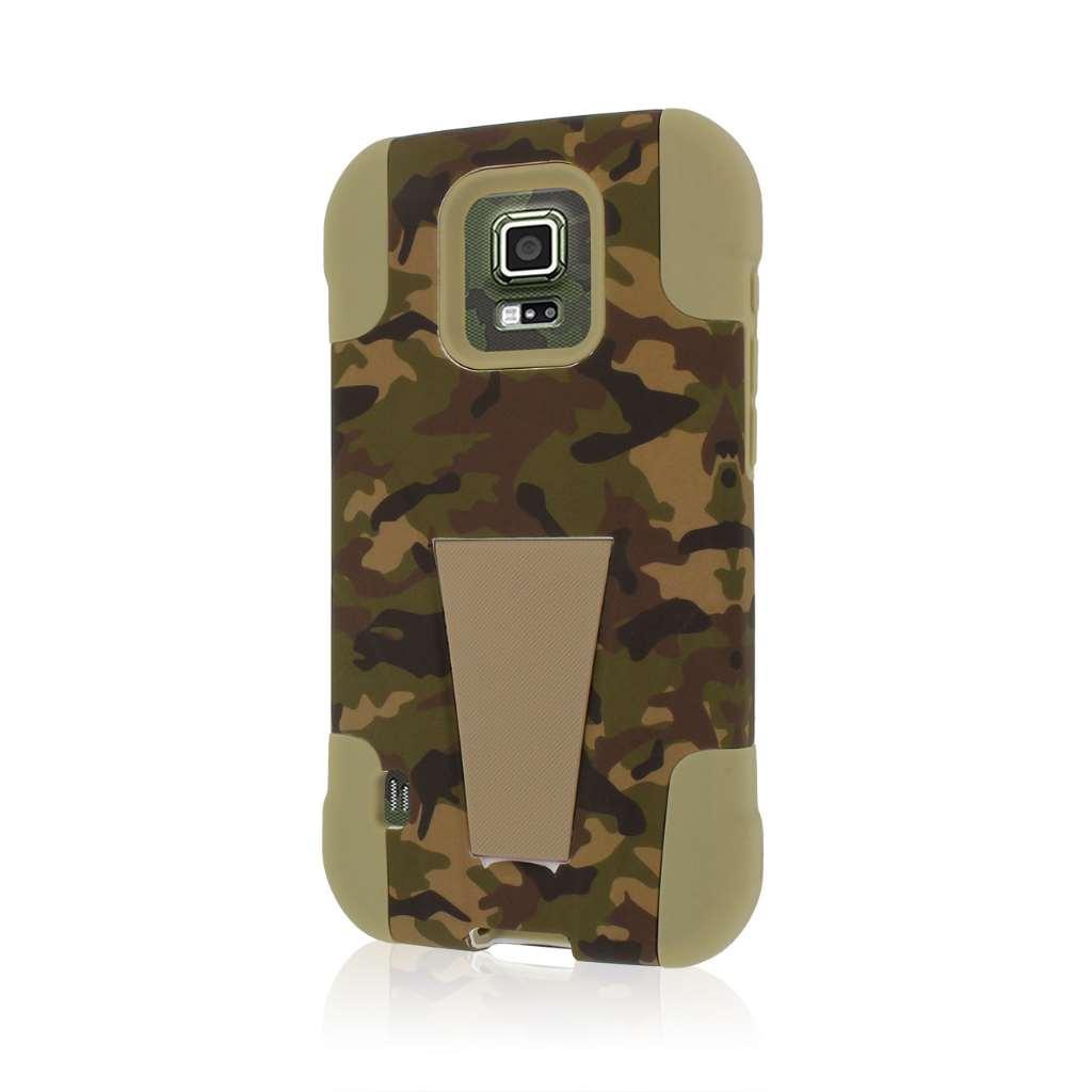 Samsung Galaxy S5 Active - Hunter Camo MPERO IMPACT X - Kickstand Case Cover
