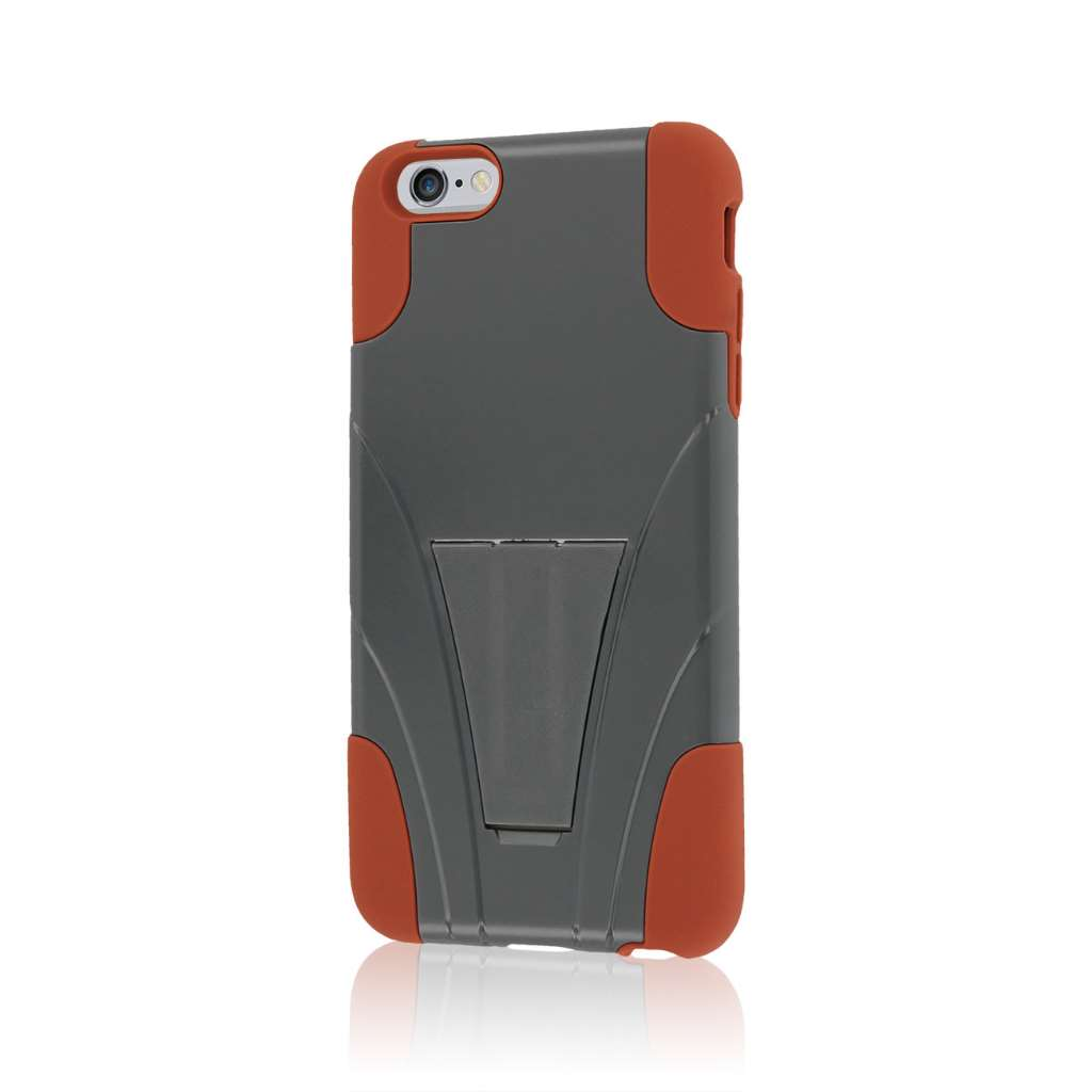 Apple iPhone 6 6S Plus - Sandstone / Gray MPERO IMPACT X - Kickstand Case