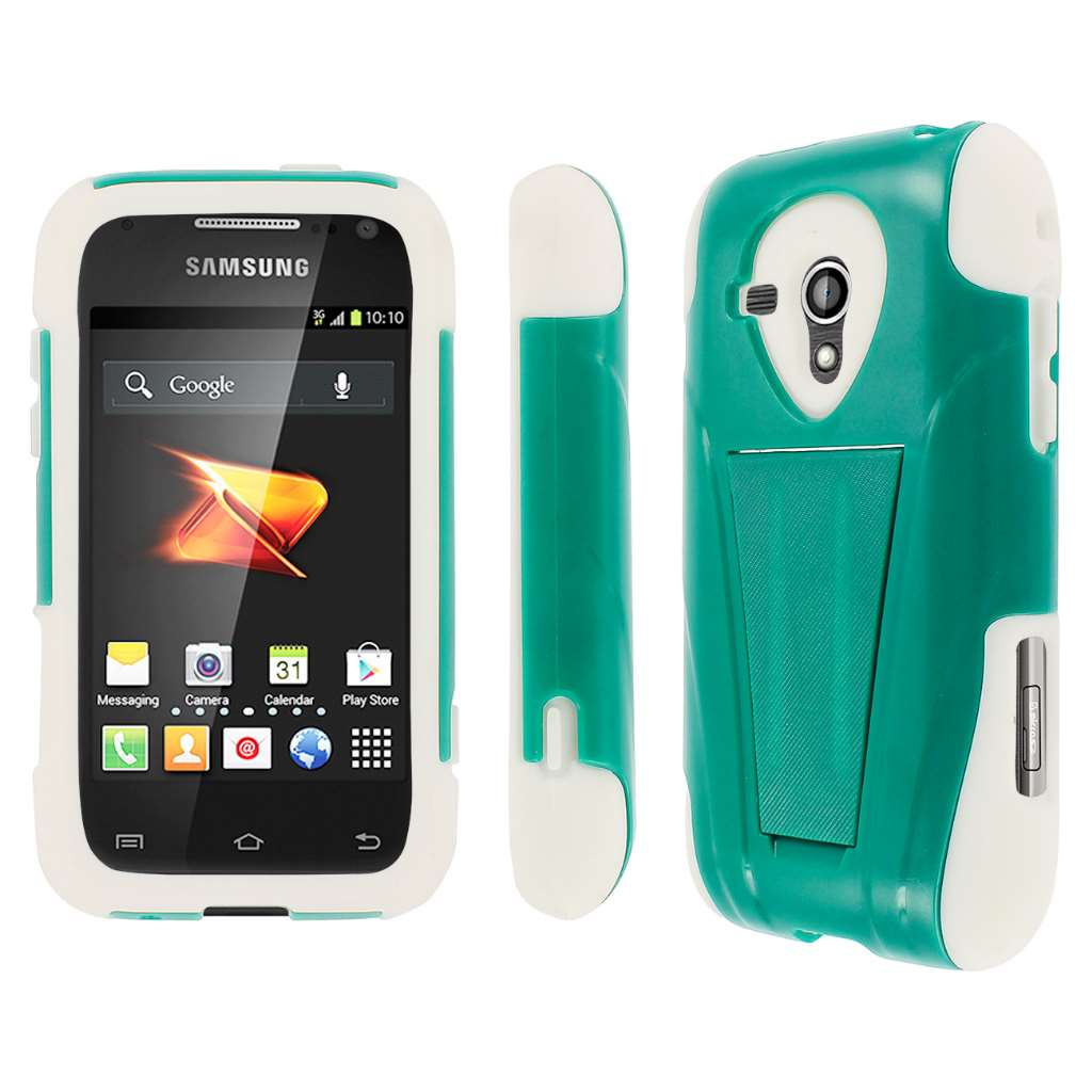 Samsung Galaxy Rush M830 - Teal Green MPERO IMPACT X - Kickstand Case Cover