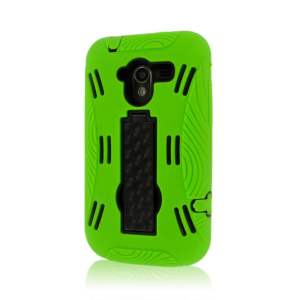 ZTE Avid 4G N9120 - Neon Green MPERO IMPACT XL - Kickstand Case Cover