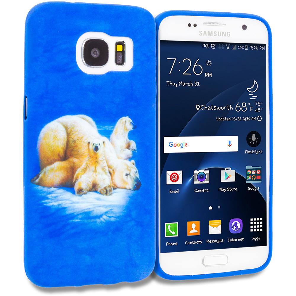 Samsung Galaxy S7 Edge Polar Bear TPU Design Soft Rubber Case Cover