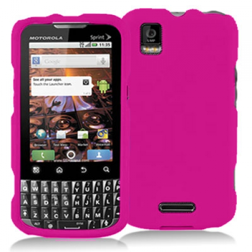 Motorola Xprt Hot Pink Hard Rubberized Case Cover