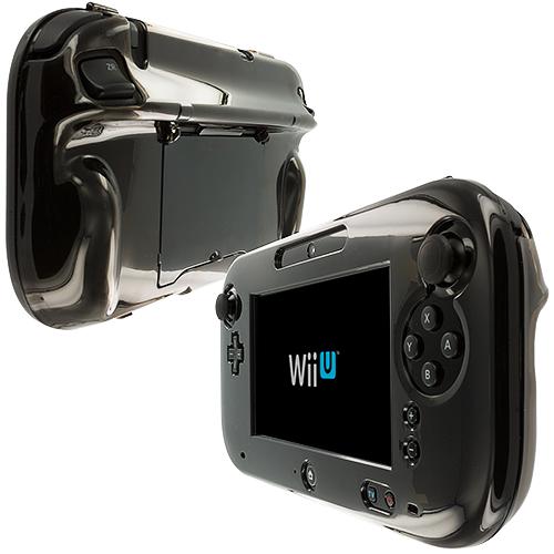 Nintendo Wii U Gamepad Controller Smoke Crystal Transparent Hard Case Cover