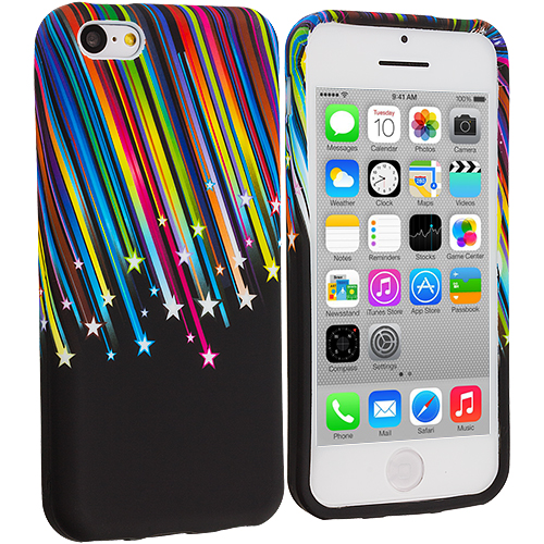 Apple iPhone 5C Rainbow Stars TPU Design Soft Case Cover