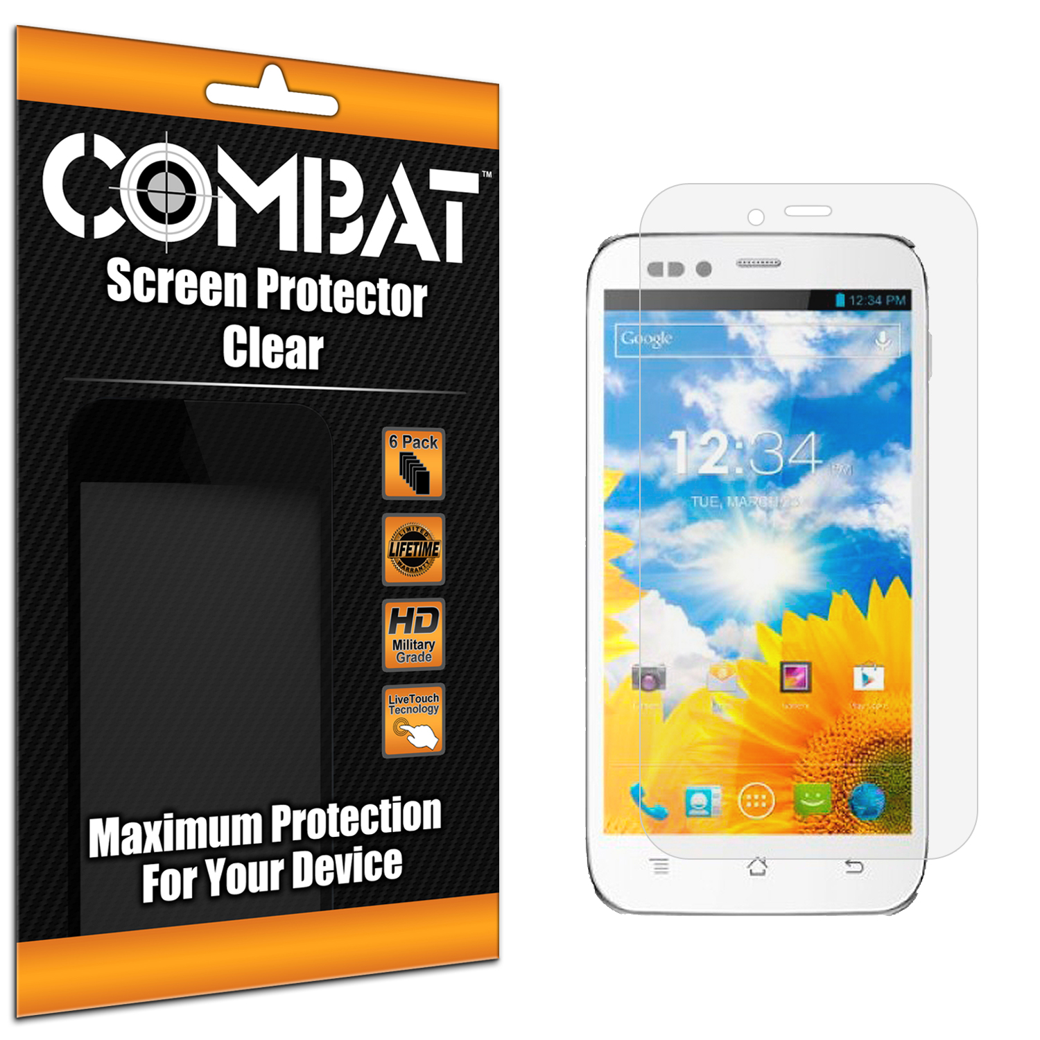 BLU Studio 5.0 Combat 6 Pack HD Clear Screen Protector