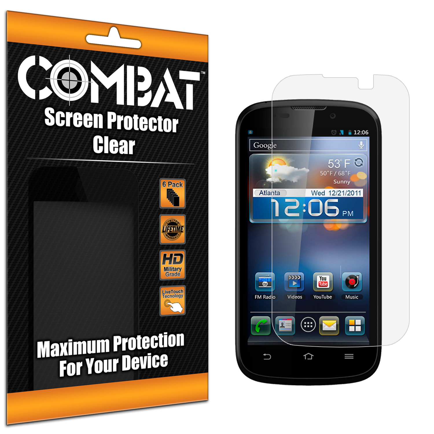 ZTE Awe N800 Combat 6 Pack HD Clear Screen Protector