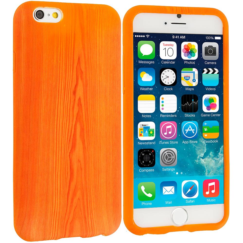 Apple iPhone 6 6S (4.7) Wood Grain TPU Design Soft Case Cover