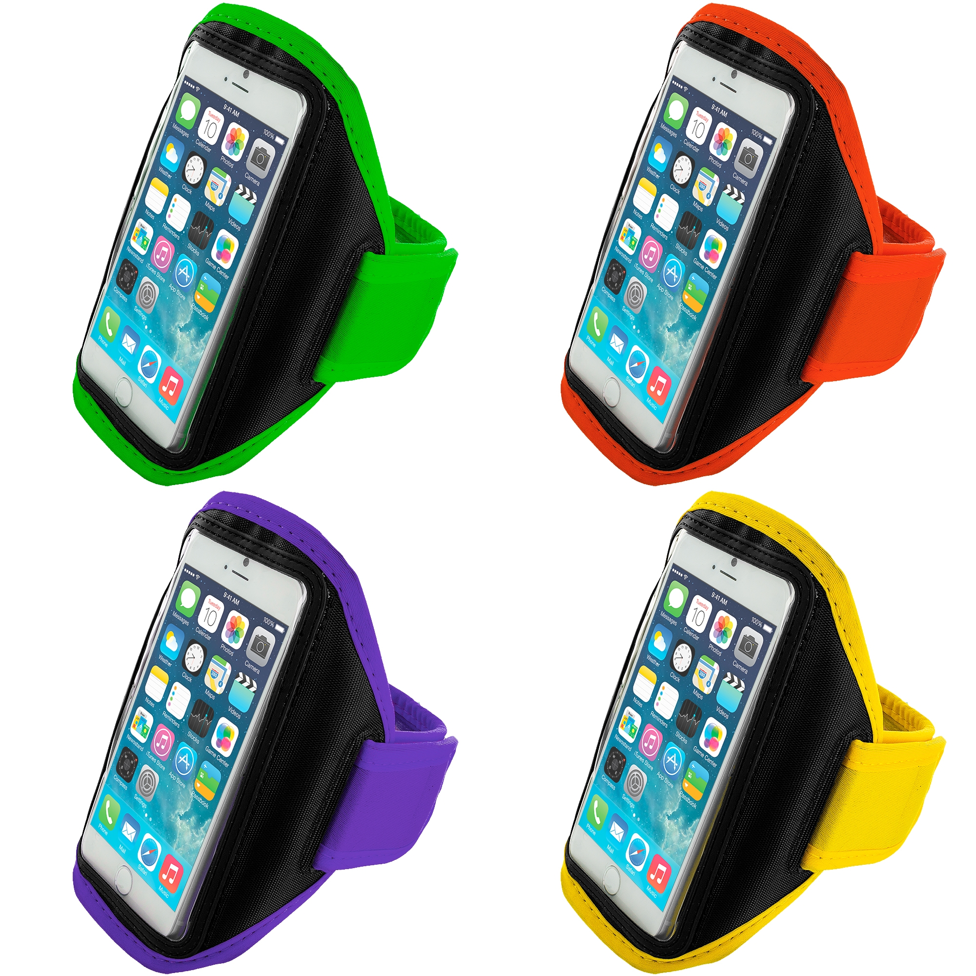 Apple iPhone 6 6S (4.7) 4 in 1 Combo Bundle Pack - Running Sports Gym Armband