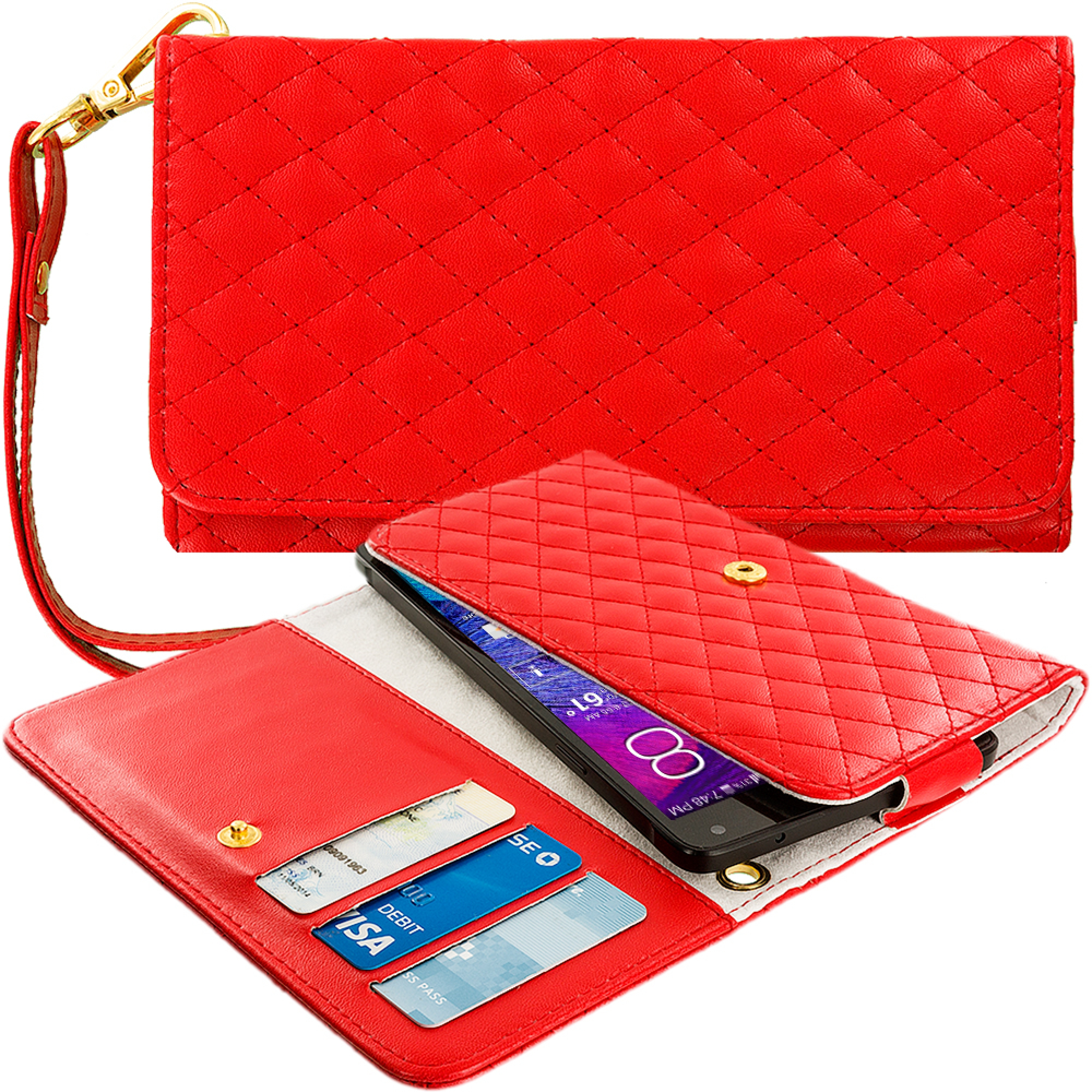 Luxury Flip Wallet Leather Design Case Cover Holder Pouch for Cell Phones