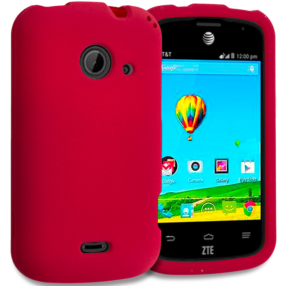 ZTE Zinger Prelude 2 Z667 Red Hard Rubberized Case Cover