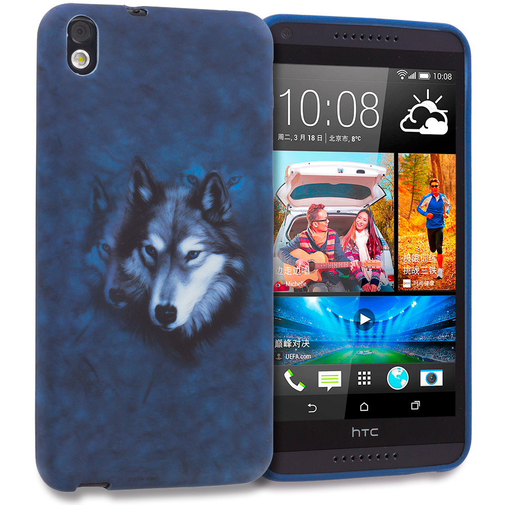 HTC Desire 816 Wolf TPU Design Soft Rubber Case Cover