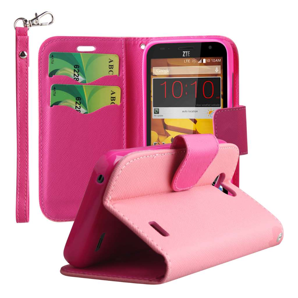 ZTE Speed - Pink MPERO FLEX FLIP 2 Wallet Stand Case Cover