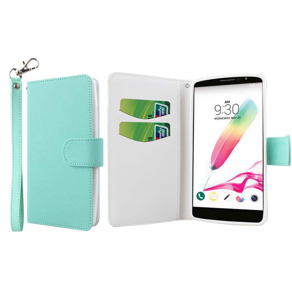 LG G Stylo - Mint MPERO FLEX FLIP Wallet Case Cover