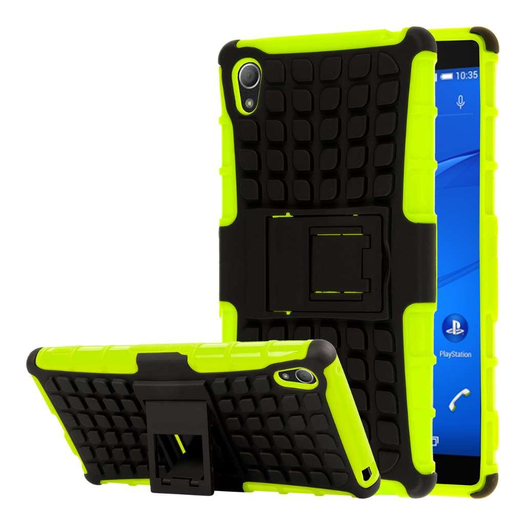 Samsung Galaxy S6 Edge - Neon Green MPERO FLEX FLIP Wallet Case Cover
