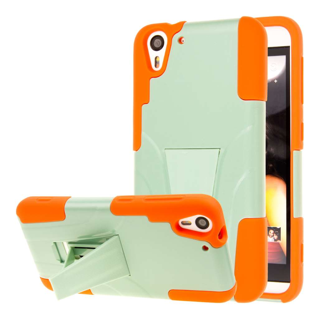 HTC Desire EYE - Coral / Mint MPERO IMPACT X - Kickstand Case Cover