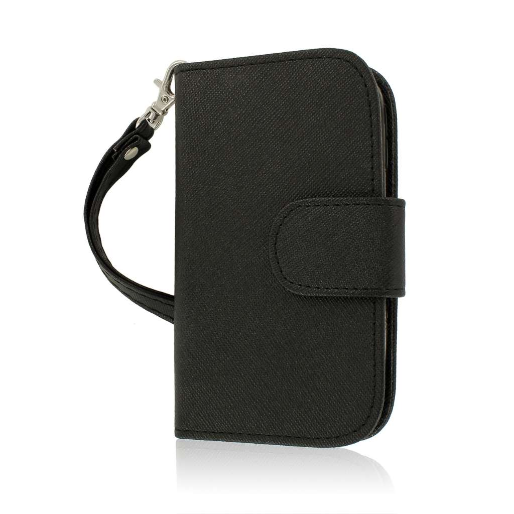 ZTE Aspect - Black MPERO FLEX FLIP Wallet Case Cover