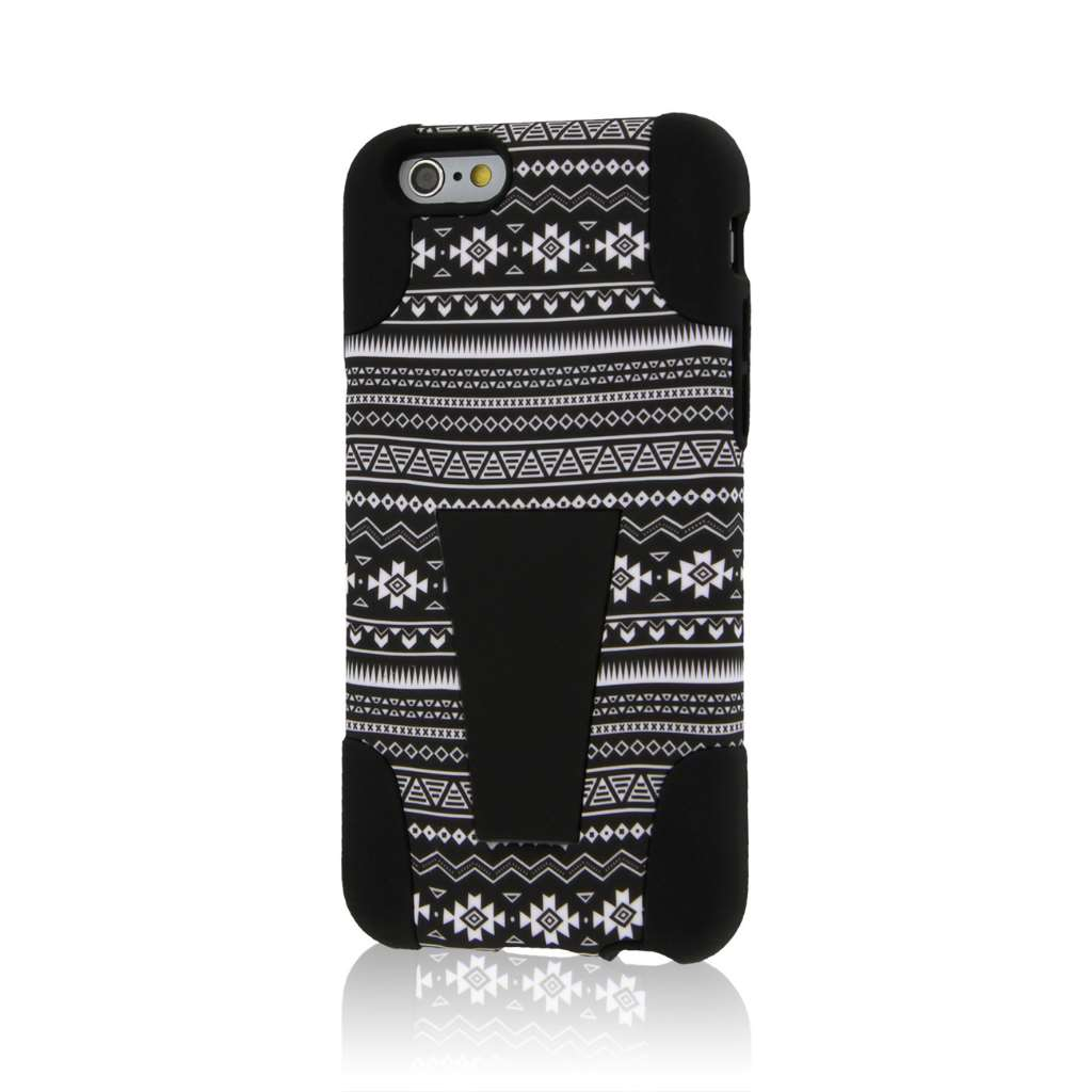 Apple iPhone 6/6S - Black Aztec MPERO IMPACT X - Kickstand Case Cover