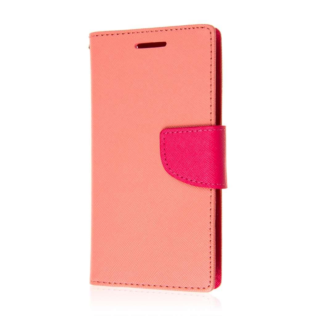 HTC Desire 610 - Pink MPERO FLEX FLIP 2 Wallet Stand Case Cover