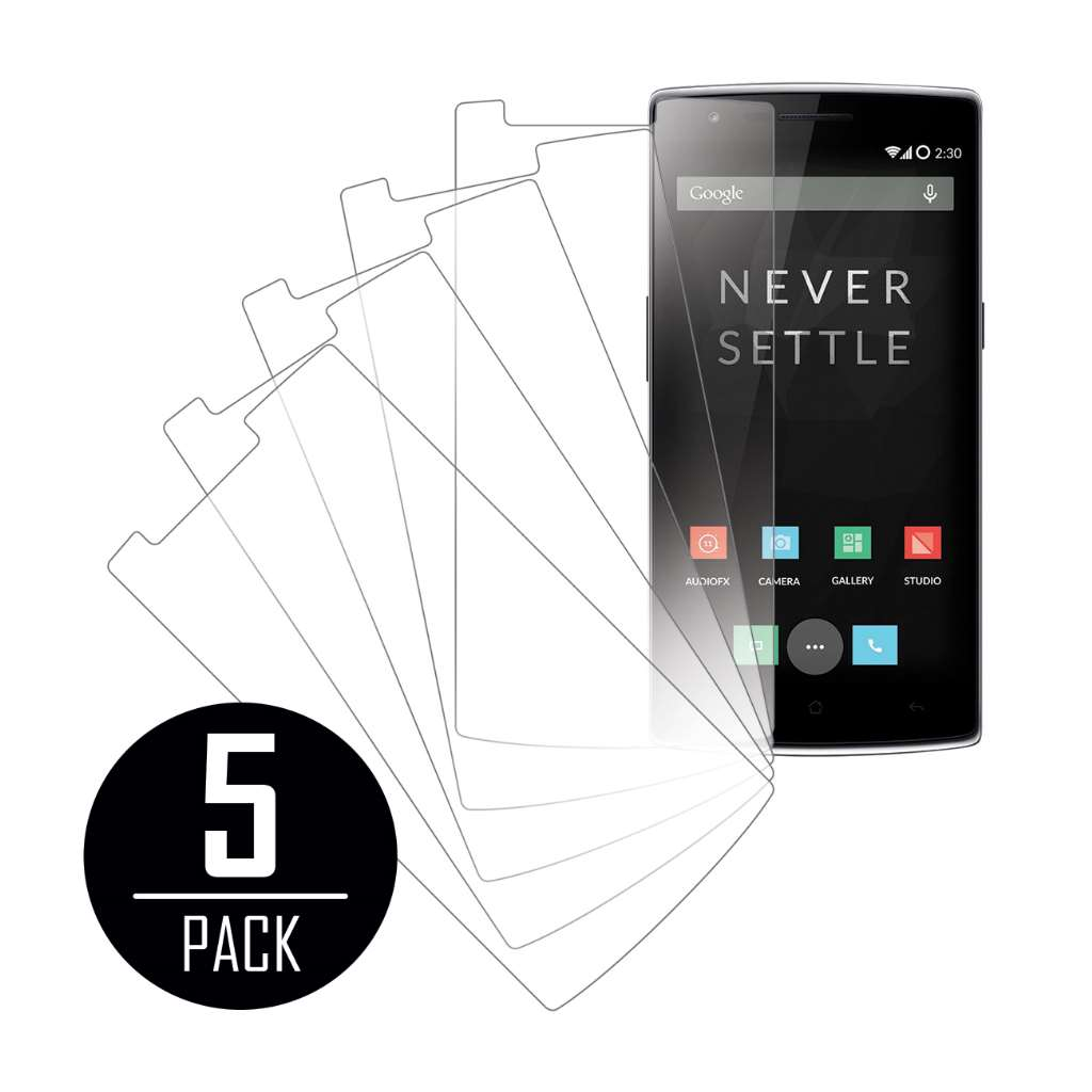 OnePlus One MPERO 5 Pack of Clear Screen Protectors