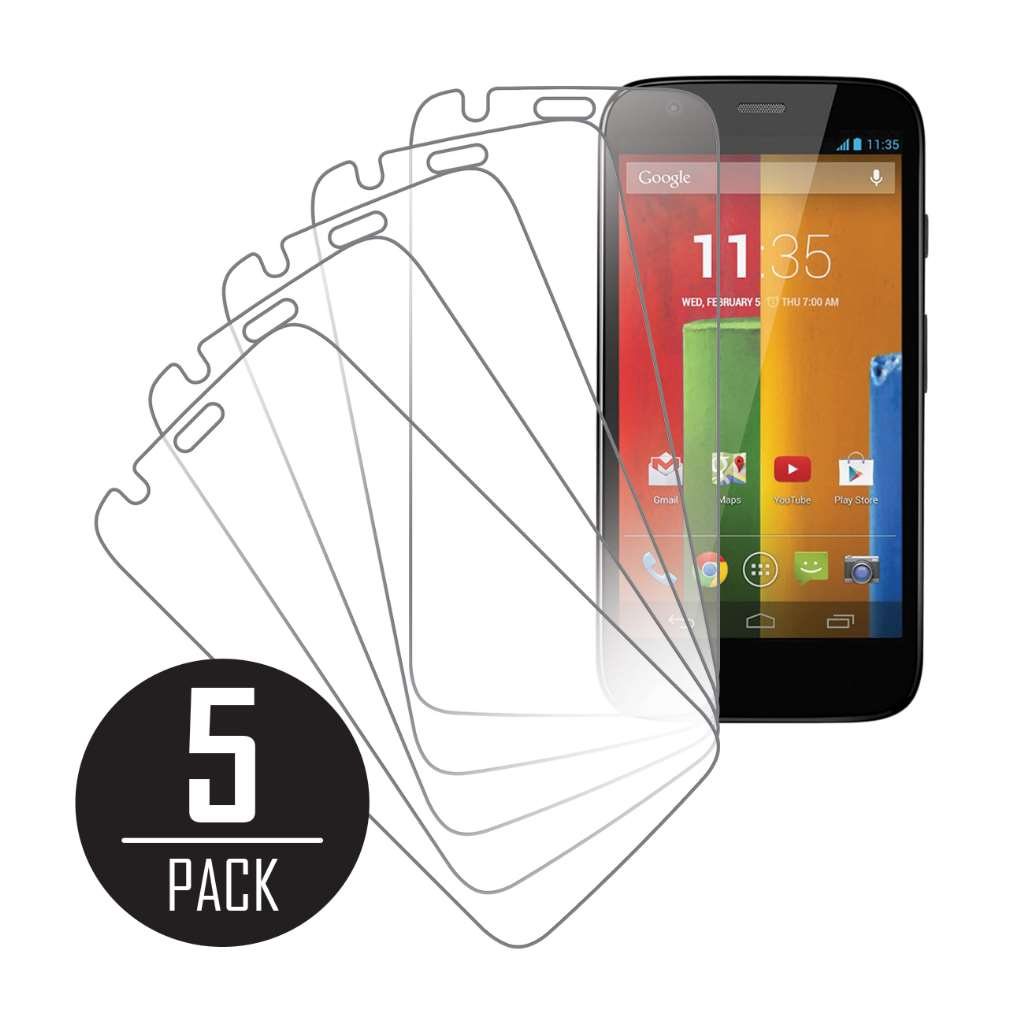 Motorola Moto G MPERO 5 Pack of Clear Screen Protectors
