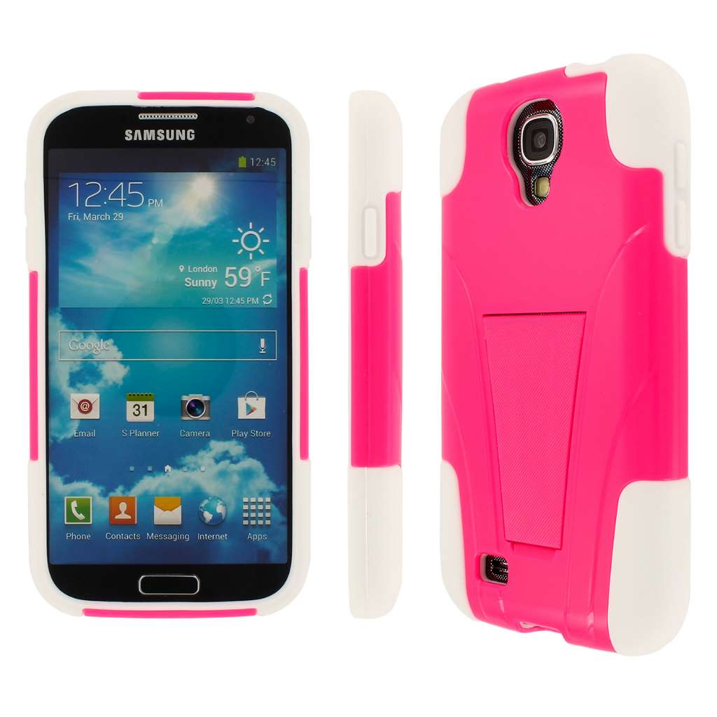 Samsung Galaxy S4 - Hot Pink MPERO IMPACT X - Kickstand Case Cover