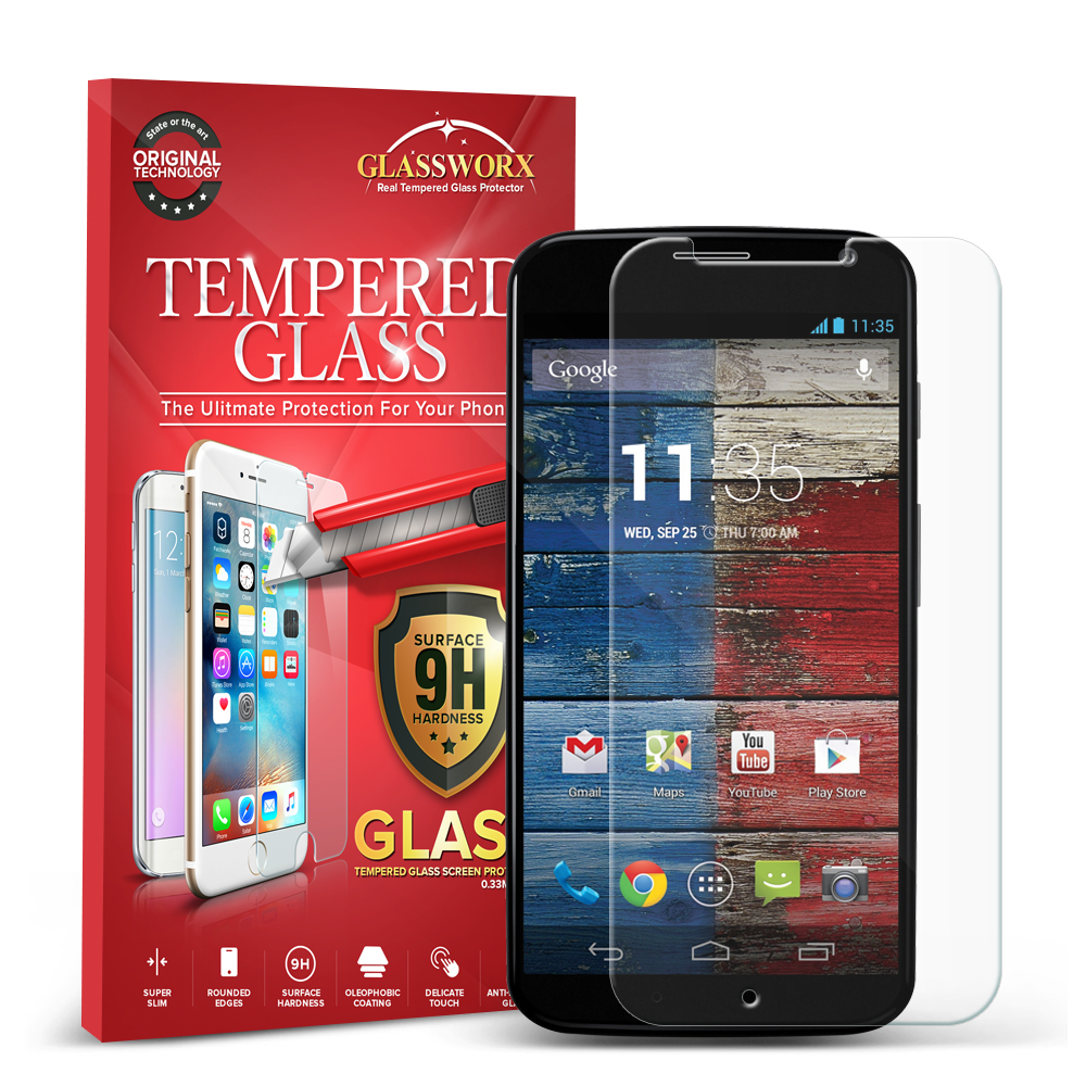 Motorola Moto X GlassWorX HD Clear Tempered Glass Screen Protector