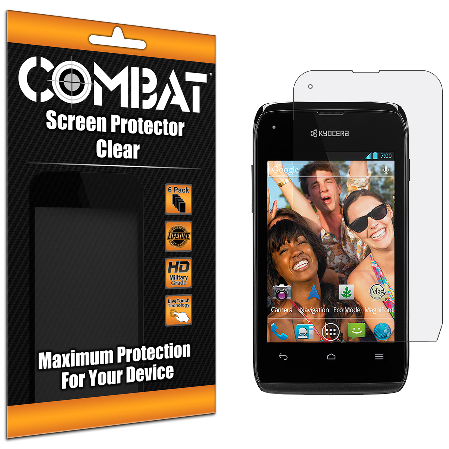 Kyocera Event C5133 Combat 6 Pack HD Clear Screen Protector