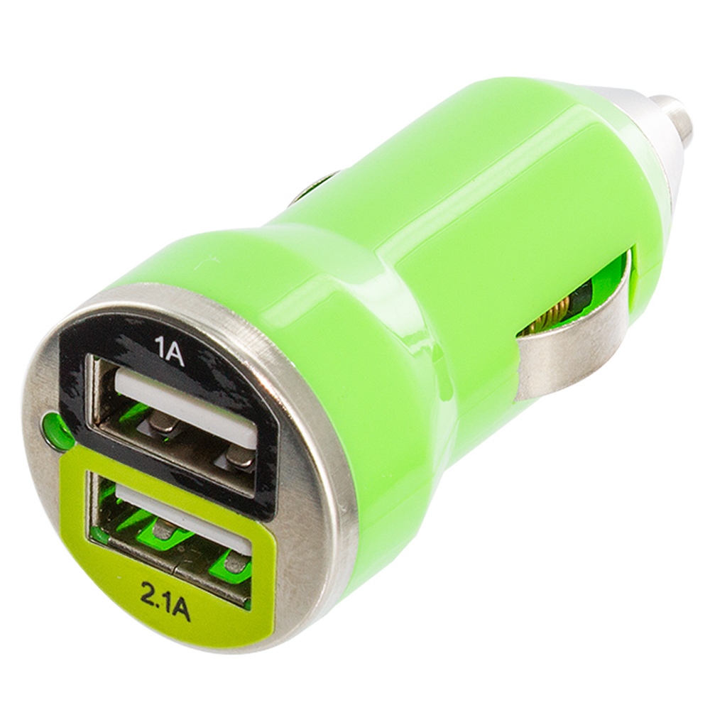 Colored usb car charger - Color Dual 2 Port Usb Dc Car Charger