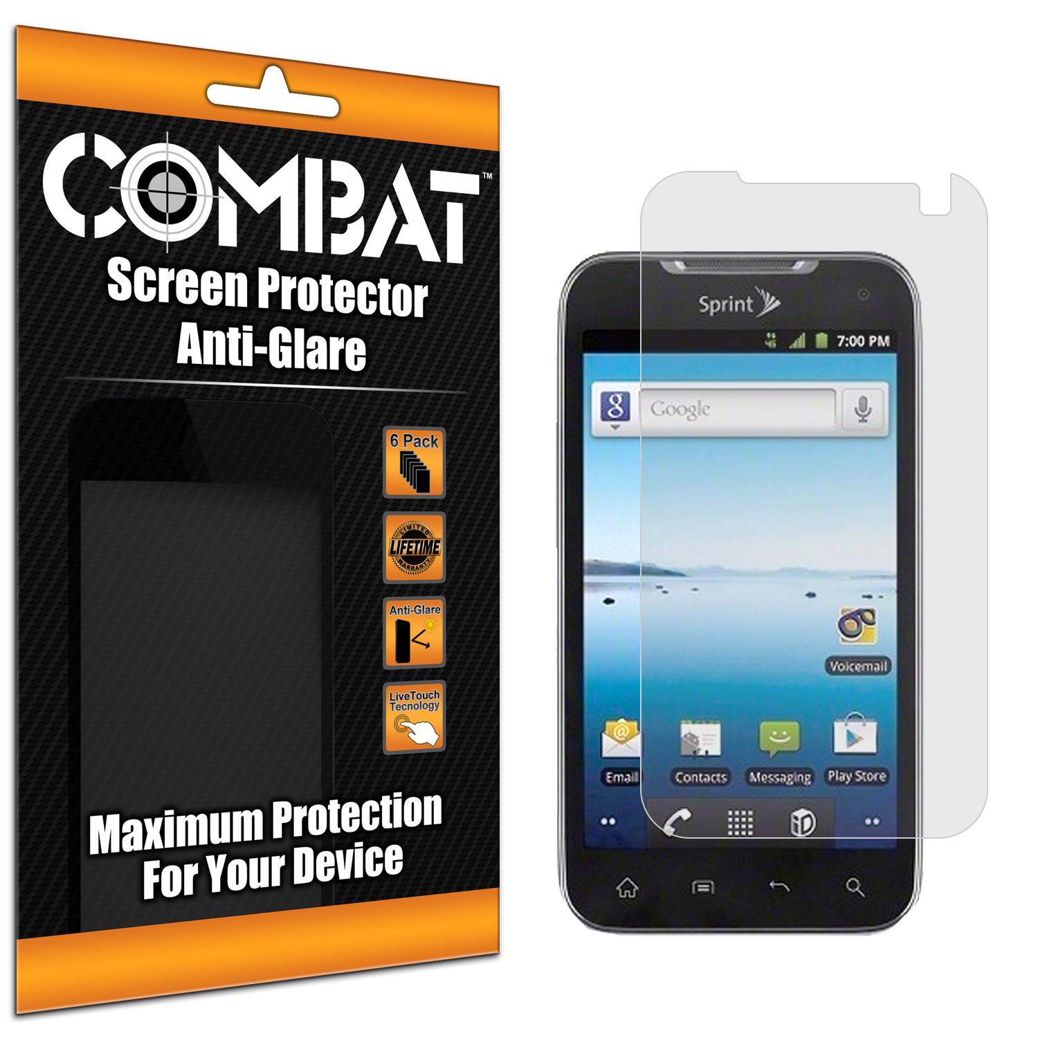 LG Viper / Connect Combat 3 Pack Anti-Glare Matte Screen Protector